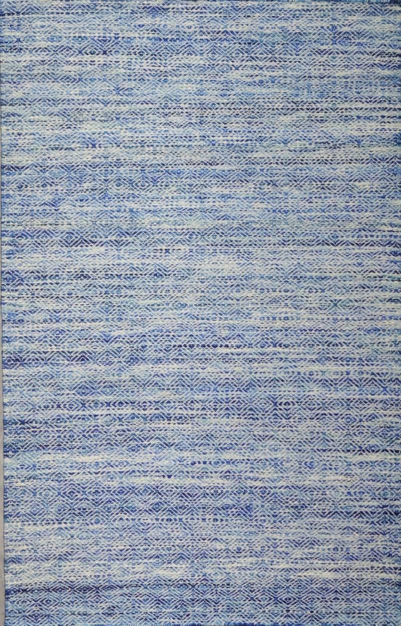 Handgewobener Teppich mit Wolle genäht in multicoloured